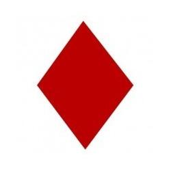Marquage de votre voile losange féminin rouge