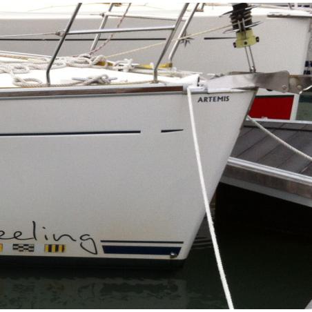 Nom de bateau sur la proue