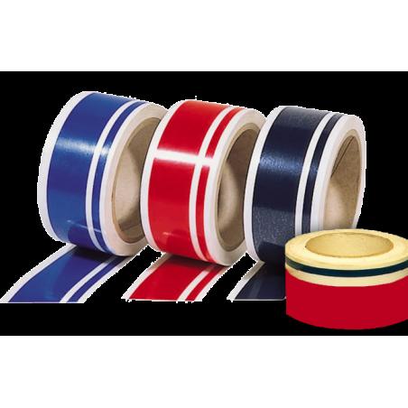 Double bandes et filets adhésifs décoratifs, 2 couleurs au choix, longueur 26 m