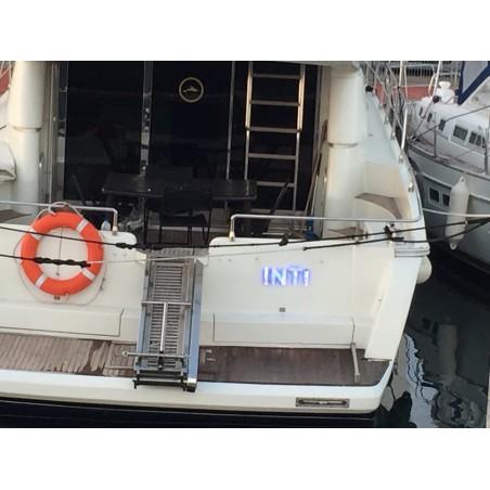 Nom de bateau lumineux à led