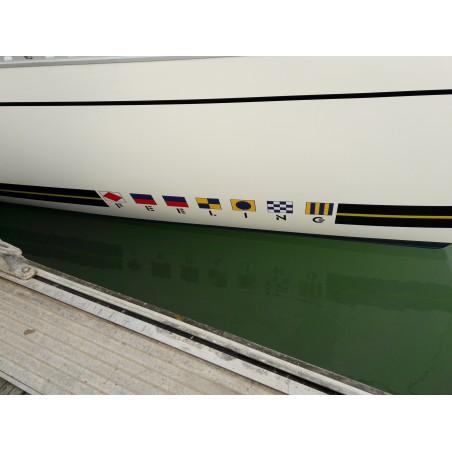 Sticker Feeling long 346 adhésif pour bateau bleu ou noir