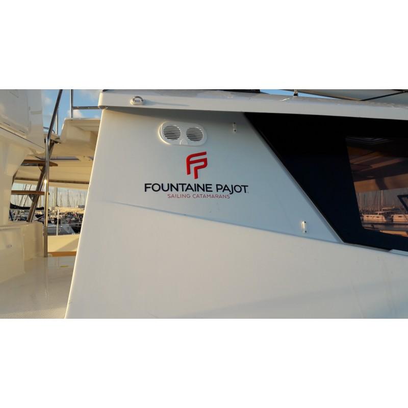 Sticker Fountaine Pajot logo pour catamaran à voile
