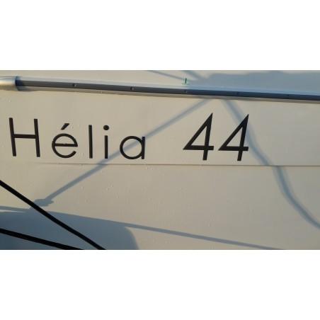 Sticker Fountaine Pajot logo pour HELIA 44