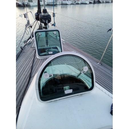 Vitrage de rechange pour panneaux de pont arrondi en plexiglass pour bateau
