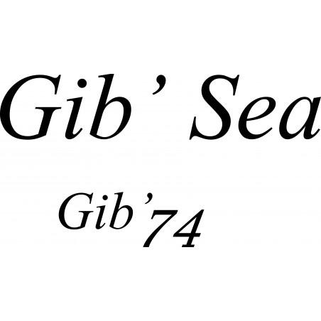 Sticker Gib'sea Gib'74 pour coque de bateau.