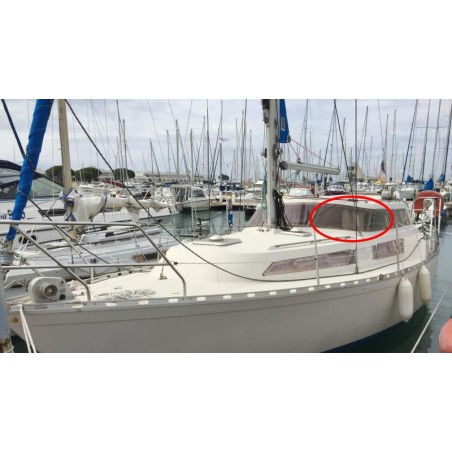 Pare-brise de coté Evasion 29 en plexiglass pour bateau