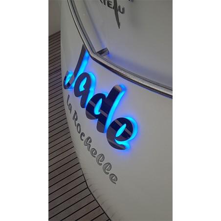 Lettres LED et Inox 316 L poli miroir