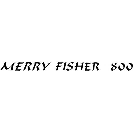 Sticker Merry Fisher 800