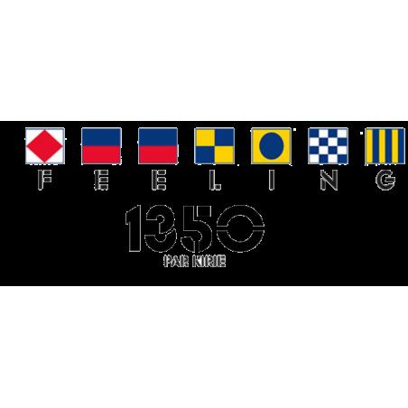Sticker Feeling logo 1350 pour coque de bateau.