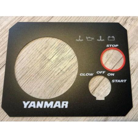 Sticker Autocollant tableau de bord pour moteur YANMAR MARINE blanc