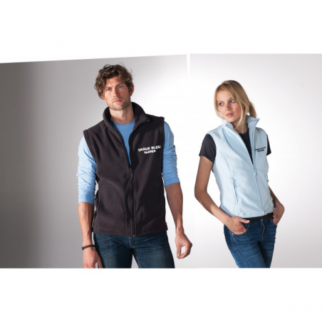 Gilet micropolaire homme avec broderie