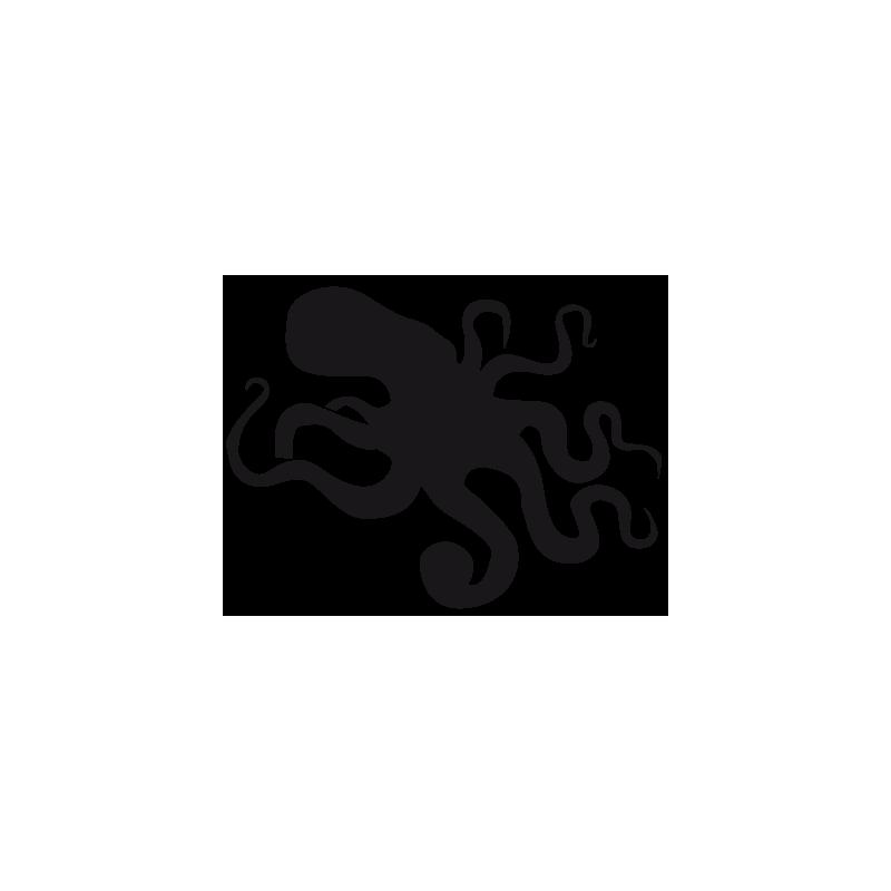 Sticker pieuvre Adhésif pour Bateau