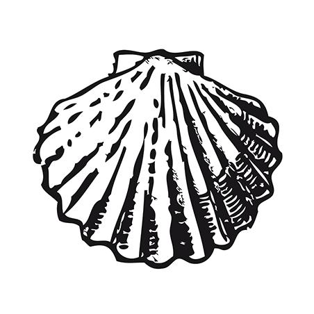Sticker Saint-jacques Adhésif pour Bateau