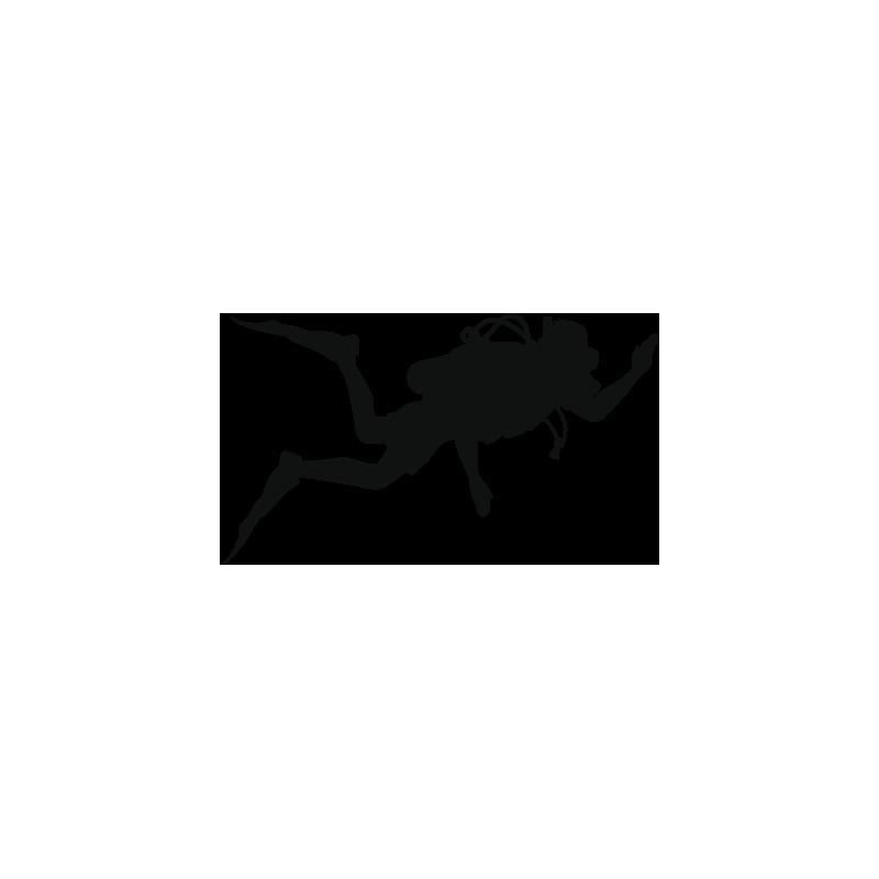 Sticker Plongeur Adhésif pour Bateau