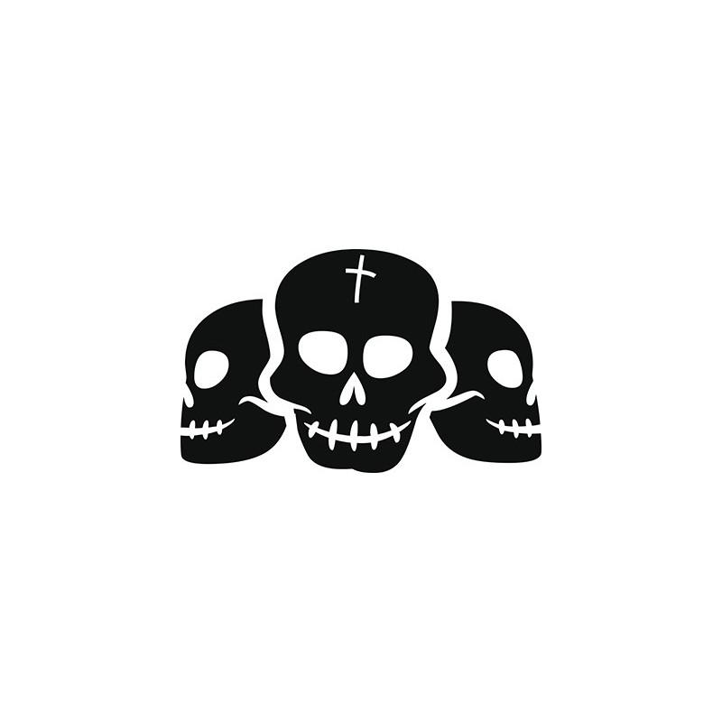 Sticker Trois Crânes Adhésif pour Bateau