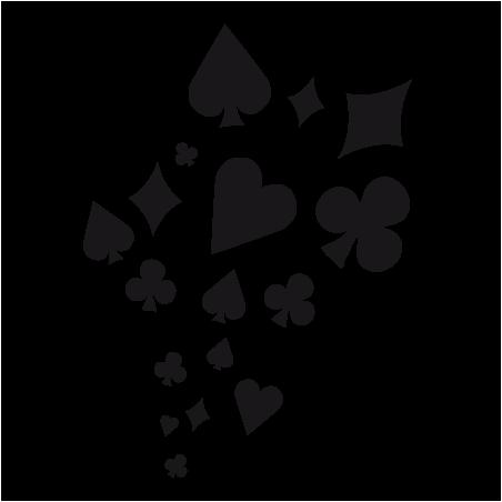 Sticker Coeur Pique Carreau Trèfle de Carte