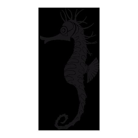 Sticker Hippocampe personnalisable adhésif pour bateau