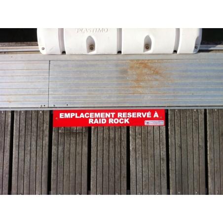 Nom de bateau sur le ponton