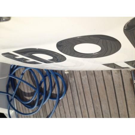 Nom de bateau en relief doming adhésif sticker
