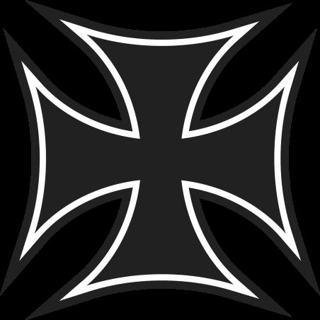 Sticker Croix de Malte 2