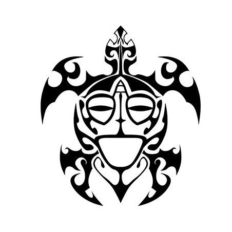 Sticker Tortue Maorï