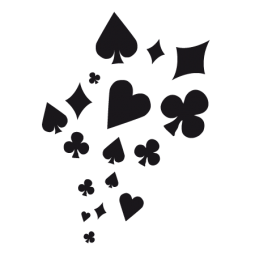 Various Stickers Card, Dice, Ace of Spades, Clubs, Heart, Diamonds