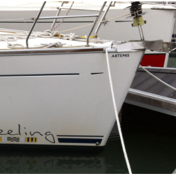 Nombre del barco de vela adhesivo o letras luminosas