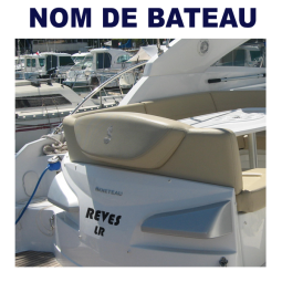 Motorboat Name Adhesive or Luminous Letters