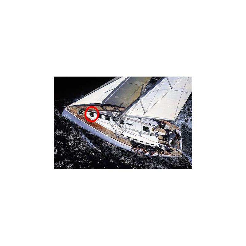 First 47.7 Beneteau vitre panneaux de pont arrondi
