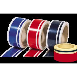 Double bandes et filets adhésifs décoratifs, 2 couleurs au choix, longueur 12m